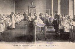 MACON - Hôpital De Mâcon Place D'Armes Chambre De Blessés Salle Pasteur Soldats Docteur Infirmières - Macon