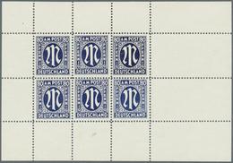Bizone: 1945, 80 Pfg. Dt. Druck Als Thobe-Fälschung Im Kompletten Kleinbogen Mit 6 Werten, Ohne Gumm - American/British Zone