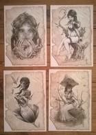 Lot De 14 Cartes Postales FAIRIES Fées Elfes / Illustrateurs Mathias WALTER / Olivier LEDROIT / Christophe VACHER - Fairy Tales, Popular Stories & Legends