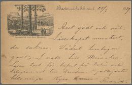 Ansichtskarten: Vorläufer: 1879, BASTEI, Vorläuferkarte 10 Pf. Adler Als Privatganzsache Mit R3 BAST - Postcards