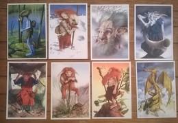 Lot De 8 Cartes Postales FAIRIES Fées Elfes / Illustrateur Philippe BOUVERET - Contes, Fables & Légendes