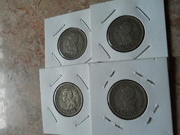 Lot 4 Coins 4 Macutas 1927 Portuguese Angola - Coins & Banknotes