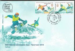 SRB 2018-02 OLY PYEONGCHANG , SRBIJA SERBIA, 1 X 2v, MNH - Winter 2018: Pyeongchang