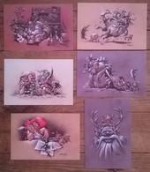 Lot De 6 Cartes Postales FAIRIES Fées Elfes Trolls  / Illustrateur Peter MADSEN - Contes, Fables & Légendes