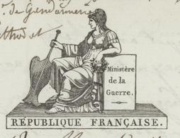Paris An 11 -3.1.1803 Ministère De La Guerre Soldats Habillés Et Armées Héraldique - 1801-1848: Precursors XIX
