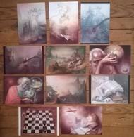 Lot De 11 Cartes Postales FAIRIES Fées Elfes Fantastique / Illustrateur André Martins DE BARROS - Fairy Tales, Popular Stories & Legends
