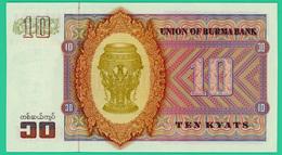 10 Kyats - Myannar - Birmanie - 1973 - N° AX 506636 -  Neuf - - Myanmar
