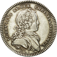 France, Jeton, Louis XV, Réunion Des Marchands De Rouen, 1719, TTB+, Argent - Other