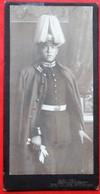 Photo  CDV Petit Format Garde Regiment Zufuss  Casque A Pointe - Guerre, Militaire