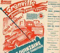 GRANVILLE (50)  Affiche Publicitaire GRANDE  QUINZAINE COMMERCIALE ARTISTIQUE TOURISTIQUE - Juillet 1950 - Plakate