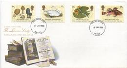 Gran Bretagna Royal Mail FDC Natura Natural History Linnean Society - Protection De L'environnement & Climat