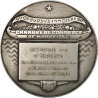 France, Médaille, Chambre De Commerce De Marseille, 1932, Darrigan, SPL, Argent - Other
