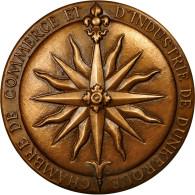 France, Médaille, Chambre De Commerce De Dunkerque, 1963, Baron, FDC, Bronze - Other