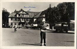 KEHL Am Rhein, Rathausplatz, Amerik. Militärpolizei Verkehrsoffizier (1948) AK - Kehl