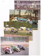 Lot De 4 Cartes. FRANCE. LE MANS 72 SARTHE. CIRCUIT BUGATTI.  24 HEURES MOTO. LE DEPART ETC ... - Sport Moto