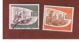 VENEZUELA  - SG 1638.1641-       1960     OIL INDUSTRY  -  USED° - Venezuela