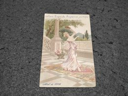 "VERY RARE ANTIQUE ADVERTISING CALENDAR PORTUGAL "" LOPES SEQUEIRA"" FASHION YEAR RUA DO OURO LISBOA 1906 - Calendari"