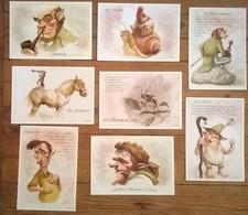Lot De 8 Cartes Postales FAIRIES Fées Elfes Nains Trolls Fantastique / Illustrateur Cyril FARUDJA - Contes, Fables & Légendes