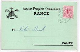 Sivry - Rance . Carte De Correspondance Sapeurs Pompiers Communaux De Rance - Sivry-Rance