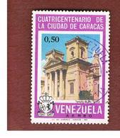 VENEZUELA  - SG 1992    -       1967     400^ ANNIV. CARACAS: ST. TERESA CHURCH               -  USED° - Venezuela