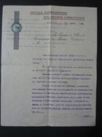 PHNOM-PENH  Amicale Cambodgienne  Des Anciens Combattants  Autographe -Emblème Sceau  Le Prédident 1933 Signée Clas 4 - Autographes