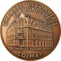 France, Médaille, Chambre De Commerce Et D'Industrie De Colmar, FDC, Bronze - Other