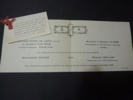 CAMBODGE PHNOM-PENH  Honorer De Votre Préseneces CEREMONIES  NUPTIALES  BANQUET DE NOCES  Mars 1946  Clas 4 - Wedding
