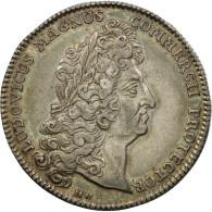 France, Jeton, Louis XIV, Chambre De Commerce De Rouen, 1712, SUP, Argent - Other