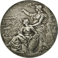 France, Médaille, Chambre De Commerce De Calais, Bottée, SUP+, Argent - Other