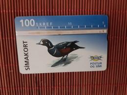 Phonecard Iceland Bird 411 L Used Rare - Iceland