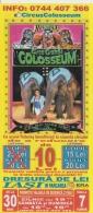 Circus Colosseum - Iasi Romania - Cirque Zirkus - Voucher Ticket - Elephant Lion Tiger Clown Fakir Acrobatics, 212/95 Mm - Biglietti D'ingresso