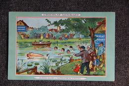 """CHOCOLAT LOMBART : """" La Fête Au Village, La Course Au Cochon """". - Reclame"""