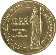 89 YONNE AUXERRE ABBAYE SAINT-GERMAIN MÉDAILLE MONNAIE DE PARIS 2018 JETON MEDALS TOKEN COINS - Monnaie De Paris