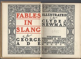 Fables In Slang By George Ade. - Books, Magazines, Comics