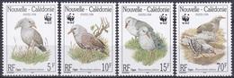 Neukaledonien New Caledonia 1998 Tiere Fauna Animals Vögel Birds Oiseaux Aves Uccelli Kagu WWF, Mi. 1144-7 ** - Neukaledonien