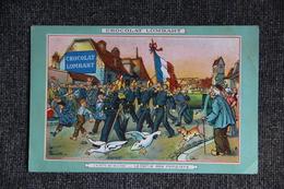 """CHOCOLAT LOMBART : """" Défilé Des Pompiers """". - Reclame"""