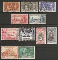 BRITISH GUIANA 1937 - 1951 COMMEMORATIVE SETS FINE USED COLLECTION Cat £8.65 - British Guiana (...-1966)