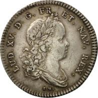 France, Jeton, Louis XV, Réunion Des Marchands De Rouen, 1719, TTB, Argent - Other