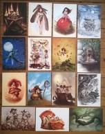 Lot De 15 Cartes Postales FAIRIES Fées Elfes Fantastique / Illustrateur Pascal MOGUEROU /b - Contes, Fables & Légendes