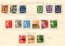 1926   Danemark Service Dienst Official, Voilier, Entre 174 Et 189 Oblitérés, Cote 92,50 €, - Oblitérés