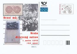 Rep. Ceca / Cart. Postali (Pre2015/14) 125 ° Ann. Del Primo Maggio (1890); Praga, Shooters Island, Francobollo, Scultura - Altri