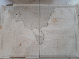 Carte De La Côte Sud De L'Australie. 1872 Depot Général De La Marine - Cartes Marines