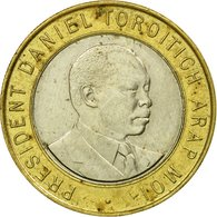 Monnaie, Kenya, 10 Shillings, 1997, British Royal Mint, TTB, Bi-Metallic, KM:27 - Kenya