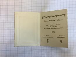 18Y - Irène Montignies Sur Sambre 1942 - Birth & Baptism