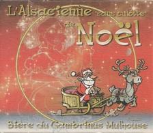SOUS-BOCKS - L'ALSACIENNE SANS CULOTTE (Bière De France) Bière Du Gambrinus (Mulhouse, ALSACE) Noël. - Sous-bocks