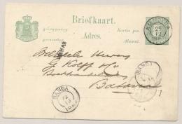 Nederlands Indië - 1887 - 5 Cent Cijfer, Briefkaart G8 Van KR BANDA Via KR AMBOINA Naar Batavia - Nederlands-Indië