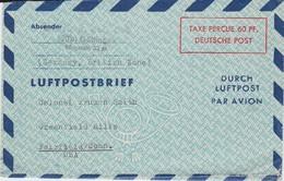 Bizone Ganzsache Luftpost Faltbrief LF 4 Göttingen 1950 - Bizone