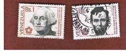 VENEZUELA  - SG 2338.2340    -       1976  BICENTENARY AMERICAN REVOLUTION       -  USED° - Venezuela