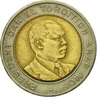 Monnaie, Kenya, 5 Shillings, 1997, British Royal Mint, TTB, Bi-Metallic, KM:30 - Kenya