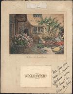 Sur Calendrier De 1933 305x235 Dédicace Autographe Hélène De Serbie à L'encre Noire Voeux Souhaits - Autographs